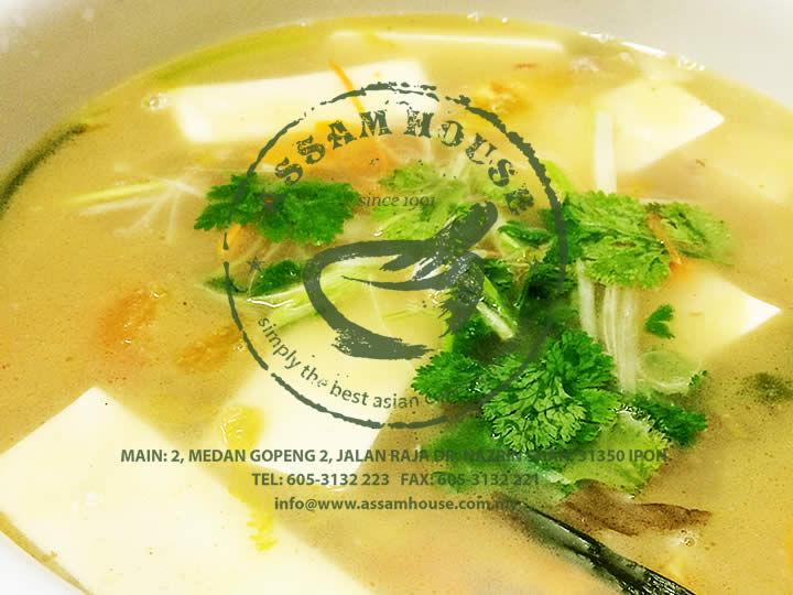 Salted Veggie Bean Curd Soup
