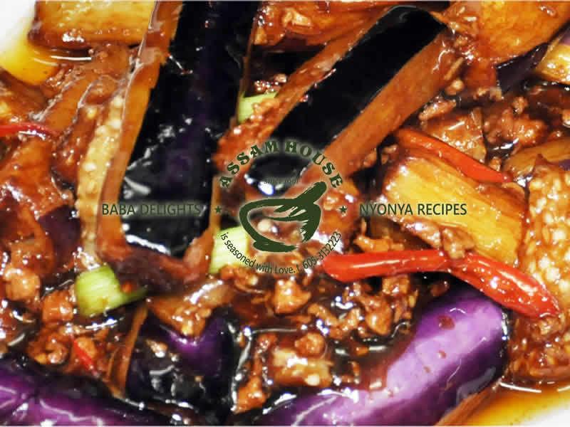 Fry Eggplant Si Chuan Style